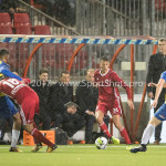 20-10-2017: Voetbal: Almere City FC v SC Cambuur: Almere (L-R) Marvin Peersman (SC Cambuur), Ezra Walian (Almere City FC), Anass Ahannach (Almere City FC), Daan Boerlage (SC Cambuur) Jupiler League 2017 / 2018