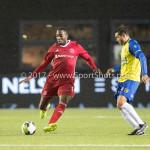 20-10-2017: Voetbal: Almere City FC v SC Cambuur: Almere (L-R) Calvin Mac Intosch (Almere City FC), Xander Houtkoop (SC Cambuur) Jupiler League 2017 / 2018