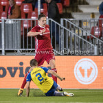 20-10-2017: Voetbal: Almere City FC v SC Cambuur: Almere (L-R) Jordy van Deelen (SC Cambuur), Josef Kvída (Almere City FC) Jupiler League 2017 / 2018