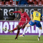 20-10-2017: Voetbal: Almere City FC v SC Cambuur: Almere (L-R) Arsenio Valpoort (Almere City FC),  Jordy van Deelen (SC Cambuur) Jupiler League 2017 / 2018