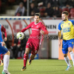 20-10-2017: Voetbal: Almere City FC v SC Cambuur: Almere (L-R) Robbert Schilder (SC Cambuur), Ezra Walian (Almere City FC), Matthew Steenvoorden (SC Cambuur) Jupiler League 2017 / 2018