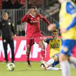 20-10-2017: Voetbal: Almere City FC v SC Cambuur: Almere (L-R) lArsenio Valpoort (Almere City FC) , Jordy van Deelen (SC Cambuur) Jupiler League 2017 / 2018
