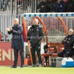 20-10-2017: Voetbal: Almere City FC v SC Cambuur: Almere (L-R) Jack de Gier - Technisch manager/Hoofdtrainer (Almere City FC), Marco Heering - Assistent trainer (Almere City FC) Jupiler League 2017 / 2018
