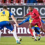 20-10-2017: Voetbal: Almere City FC v SC Cambuur: Almere (L-R) Matthew Steenvoorden (SC Cambuur), cam13, Arsenio Valpoort (Almere City FC) Jupiler League 2017 / 2018