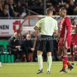 26-10-2017: Voetbal: Almere City FC v AZ: Almere (L-R) Arsenio Valpoort (Almere City FC), Danny Makkelie (Scheidsrechter) KNVB Beker 2e ronde 2017 / 2018