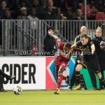 26-10-2017: Voetbal: Almere City FC v AZ: Almere (L-R) Achille Vaarnold (Almere City FC), Thomas Ouwejan (AZ) KNVB Beker 2e ronde 2017 / 2018