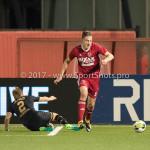 26-10-2017: Voetbal: Almere City FC v AZ: Almere (L-R) Jonas Svensson (AZ), Josef Kvída (Almere City FC) KNVB Beker 2e ronde 2017 / 2018