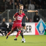 26-10-2017: Voetbal: Almere City FC v AZ: Almere (L-R) Achille Vaarnold (Almere City FC), Teun Koopmeiners (AZ) KNVB Beker 2e ronde 2017 / 2018