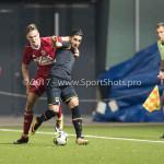 26-10-2017: Voetbal: Almere City FC v AZ: Almere (L-R) Josef Kvída (Almere City FC), Alireza Jahanbakhsh (AZ) KNVB Beker 2e ronde 2017 / 2018