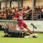 26-10-2017: Voetbal: Almere City FC v AZ: Almere (L-R) Alireza Jahanbakhsh (AZ), Josef Kvída (Almere City FC) KNVB Beker 2e ronde 2017 / 2018