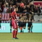 26-10-2017: Voetbal: Almere City FC v AZ: Almere Kevin Brands (Almere City FC) balen  KNVB Beker 2e ronde 2017 / 2018