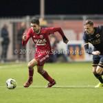 26-10-2017: Voetbal: Almere City FC v AZ: Almere (L-R) Faris Hammouti (Almere City FC), Mats Seuntjens (AZ) KNVB Beker 2e ronde 2017 / 2018