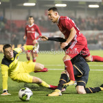 03-11-2017: Voetbal: Almere City FC v Jong AZ: Almere (L-R) Nick Olij (Jong AZ), Gaston Salasiwa (Almere City FC) Jupiler League 2017 / 2018