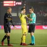 03-11-2017: Voetbal: Almere City FC v Jong AZ: Almere (L-R) Jamie Jacobs (Jong AZ), Nick Olij (Jong AZ), Ingmar Oostrom (Scheidsrechter) Jupiler League 2017 / 2018