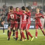 03-11-2017: Voetbal: Almere City FC v Jong AZ: Almere (L-R) Arsenio Valpoort (Almere City FC), Gaston Salasiwa (Almere City FC) 1-0 Jupiler League 2017 / 2018