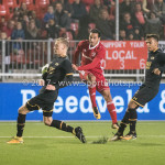 03-11-2017: Voetbal: Almere City FC v Jong AZ: Almere (L-R) Joris Kramer (Jong AZ), Ezra Walian (Almere City FC) Jupiler League 2017 / 2018