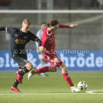 03-11-2017: Voetbal: Almere City FC v Jong AZ: Almere (L-R) Jamie Jacobs (Jong AZ), Ezra Walian (Almere City FC) Jupiler League 2017 / 2018