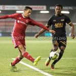 03-11-2017: Voetbal: Almere City FC v Jong AZ: Almere (L-R) Anass Ahannach (Almere City FC), Owen Wijndal (Jong AZ) Jupiler League 2017 / 2018