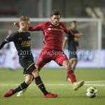 03-11-2017: Voetbal: Almere City FC v Jong AZ: Almere (L-R) Jamie Jacobs (Jong AZ), Javier Vet (Almere City FC) Jupiler League 2017 / 2018