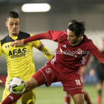 03-11-2017: Voetbal: Almere City FC v Jong AZ: Almere (L-R) Nick Olij (Jong AZ), Ezra Walian (Almere City FC) Jupiler League 2017 / 2018