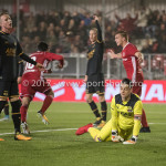 03-11-2017: Voetbal: Almere City FC v Jong AZ: Almere (L-R) Ezra Walian (Almere City FC), Nick Olij (Jong AZ), Damon Mirani (Almere City FC) Jupiler League 2017 / 2018