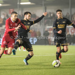 03-11-2017: Voetbal: Almere City FC v Jong AZ: Almere (L-R) Faris Hammouti (Almere City FC), Vincent Regeling (Jong AZ) Jupiler League 2017 / 2018