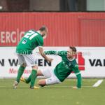 18-11-2017: Voetbal: Jong Almere City v VVOG: Almere (L-R) Jeffrey Arends (VVOG), Frank Hol (VVOG) 3de divisie zaterdag 2017 / 2018