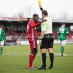 18-11-2017: Voetbal: Jong Almere City v VVOG: Almere (L-R) Kenneth Aninkora (Jong Almere City FC), F.E. ter Brake (Scheidsrechter) 3de divisie zaterdag 2017 / 2018