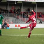 18-11-2017: Voetbal: Jong Almere City v VVOG: Almere Nicky van Hilten (Jong Almere City FC) 1-2 3de divisie zaterdag 2017 / 2018