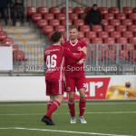 18-11-2017: Voetbal: Jong Almere City v VVOG: Almere (L-R) James Efmorfidis (Jong Almere City FC), Adriaan Kruisheer (Jong Almere City FC) 3de divisie zaterdag 2017 / 2018