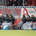 03-11-2017: Voetbal: Almere City FC v Jong AZ: Almere (L-R) Ivar van Dinteren - Hoofdtrainer (Jong Almere City FC), Jason Oost - assistent Trainer (Jong Almere City FC) Jupiler League 2017 / 2018