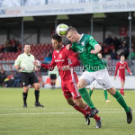 18-11-2017: Voetbal: Jong Almere City v VVOG: Almere (L-R)  Devechio Blackson (Jong Almere City FC), Jan Jurriën Hop (VVOG) 3de divisie zaterdag 2017 / 2018