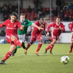 18-11-2017: Voetbal: Jong Almere City v VVOG: Almere Samet Bulut (Jong Almere City FC) 3-2 3de divisie zaterdag 2017 / 2018