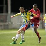 27-11-2017: Voetbal: Almere City FC v RKC Waalwijk: Almere (L-R) Henrico Drost (RKC Waalwijk), Arsenio Valpoort (Almere City FC)Jupiler League 2017 / 2018