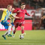 27-11-2017: Voetbal: Almere City FC v RKC Waalwijk: Almere (L-R) Henrico Drost (RKC Waalwijk), Javier Vet (Almere City FC) Jupiler League 2017 / 2018