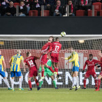 27-11-2017: Voetbal: Almere City FC v RKC Waalwijk: Almere (L-R) Javier Vet (Almere City FC), Arsenio Valpoort (Almere City FC) Jupiler League 2017 / 2018