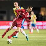 27-11-2017: Voetbal: Almere City FC v RKC Waalwijk: Almere (L-R) Jan Lammers (RKC Waalwijk), Dennis van der Heijden (Almere City FC) Jupiler League 2017 / 2018