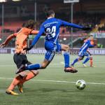 01-12-2017: Voetbal: FC Volendam v Almere City FC: Volendam (L-R) Henny Schilder (FC Volendam), Anass Ahannach (Almere City FC) Jupiler League 2017 / 2018