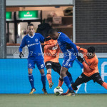 01-12-2017: Voetbal: FC Volendam v Almere City FC: Volendam (L-R) Gaston Salasiwa (Almere City FC), Nick Doodeman (FC Volendam), Arsenio Valpoort (Almere City FC), Ali Ulusoy (FC Volendam) Jupiler League 2017 / 2018