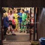 15-12-2017: Voetbal: Jong PSV v Almere City FC: Eindhoven (L-R) Yanick van Osch (Jong PSV), Chiel Kramer (Almere City FC) Jupiler League 2017 / 2018