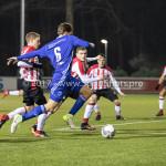 15-12-2017: Voetbal: Jong PSV v Almere City FC: Eindhoven (L-R) Dante Rigo (Jong PSV), Javier Vet (Almere City FC) Jupiler League 2017 / 2018
