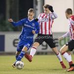 15-12-2017: Voetbal: Jong PSV v Almere City FC: Eindhoven (L-R)  Silvester van de Water (Almere City FC), Matthias Verreth (Jong PSV) Jupiler League 2017 / 2018