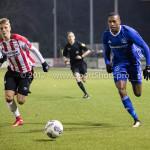 15-12-2017: Voetbal: Jong PSV v Almere City FC: Eindhoven (L-R) Albert Gudmundsson (Jong PSV), Arsenio Valpoort (Almere City FC) Jupiler League 2017 / 2018
