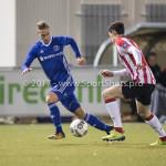 15-12-2017: Voetbal: Jong PSV v Almere City FC: Eindhoven (L-R) Silvester van de Water (Almere City FC), Maxime Soulas (Jong PSV) Jupiler League 2017 / 2018