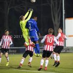 15-12-2017: Voetbal: Jong PSV v Almere City FC: Eindhoven (L-R) Yanick van Osch (Jong PSV), Calvin Mac Intosch (Almere City FC) Jupiler League 2017 / 2018