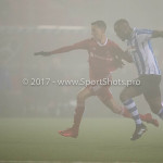 22-12-2017: Voetbal: Almere City FC v FC Eindhoven: Almere (L-R) Anass Ahannach (Almere City FC), Doriano Kortstam (FC Eindhoven) Jupiler League 2017 / 2018
