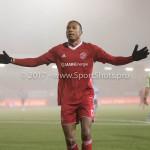 22-12-2017: Voetbal: Almere City FC v FC Eindhoven: Almere Arsenio Valpoort (Almere City FC) celebrating 1-0 Jupiler League 2017 / 2018