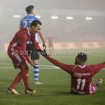 22-12-2017: Voetbal: Almere City FC v FC Eindhoven: Almere (L-R) Gaston Salasiwa (Almere City FC), Jerge Hoefdraad (Almere City FC) Jupiler League 2017 / 2018