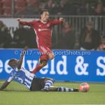 22-12-2017: Voetbal: Almere City FC v FC Eindhoven: Almere (L-R) Doriano Kortstam (FC Eindhoven), Gaston Salasiwa (Almere City FC) Jupiler League 2017 / 2018