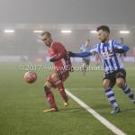 22-12-2017: Voetbal: Almere City FC v FC Eindhoven: Almere (L-R) Silvester van de Water (Almere City FC), Maxime Gunst (FC Eindhoven) Jupiler League 2017 / 2018